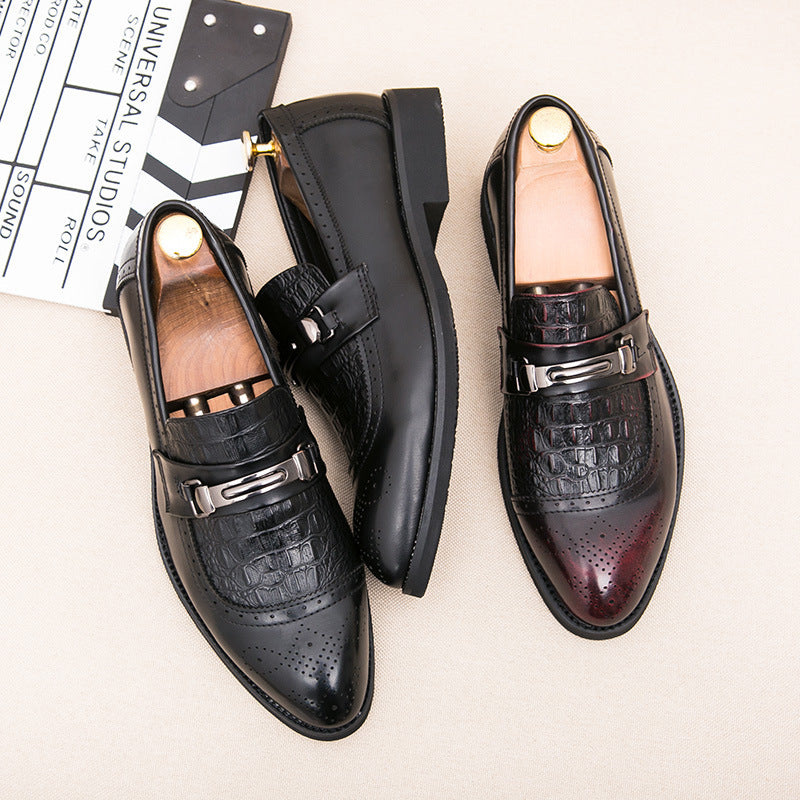 Men's leather shoes men's Korean fashion shoes business casual shoes British fashion club shoes popular men's shoes