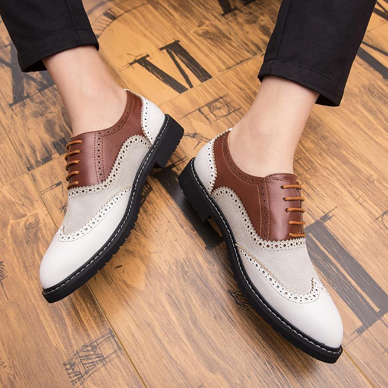 19 spring new British Brock business dress shoes Korean nightclub leisure size men's shoes