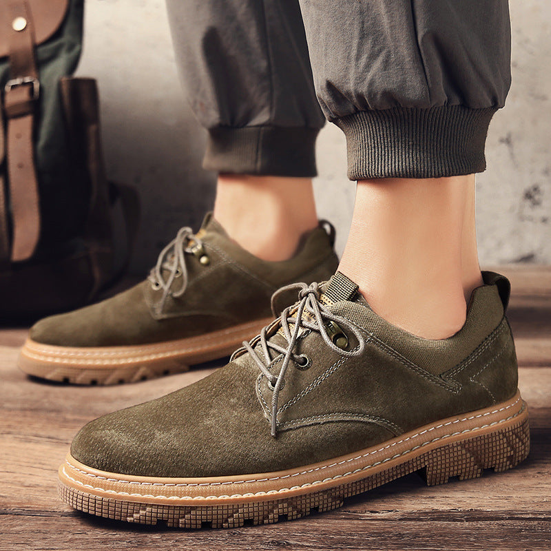 19 fall/winter new casual men Korean fashion frock shoes Joker shoes breathable martin shoes