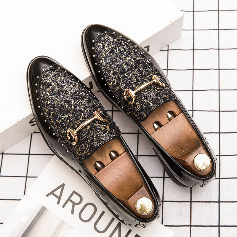 Stylist shoes men Korean fashion leisure increased England pointed men's shoes Joker youth shoes