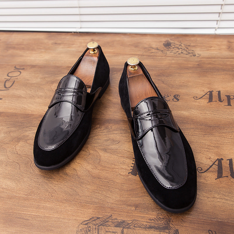 19 autumn new hairstylist, male, British personality, leather stitching, toe tip, young shoe fashion man