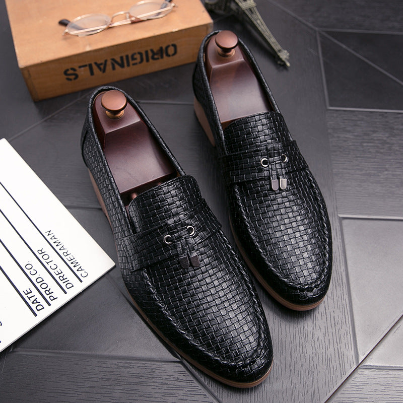British and British Korean pointy toe shoes men's fringe fashion shoes in autumn