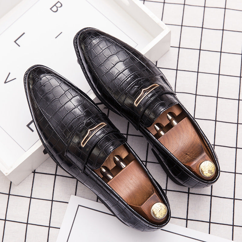 Leather shoes men's autumn business men's shoes youth Korean Trend British large casual shoes pointed hair stylist fashion shoes men