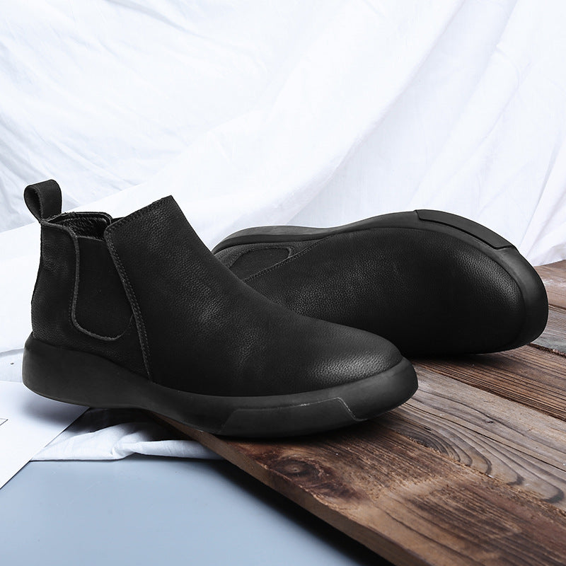 19 aw19 men's Chelsea boots Martin boots Korean Short Boots tooling shoes men's fashion brand (shoe size)