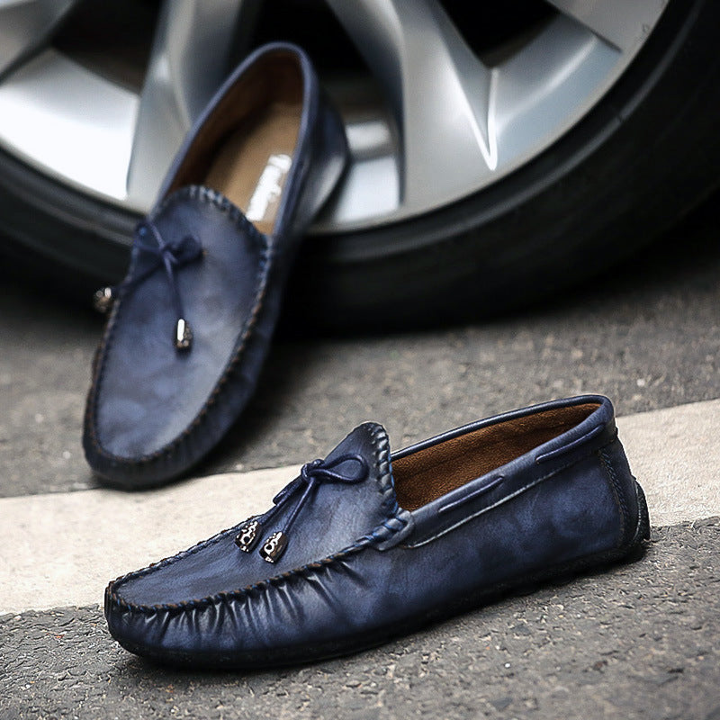 Men's driving shoes Korean version of the trend bean shoes soft-soled hundred sloth shoes lazy shoes male tide