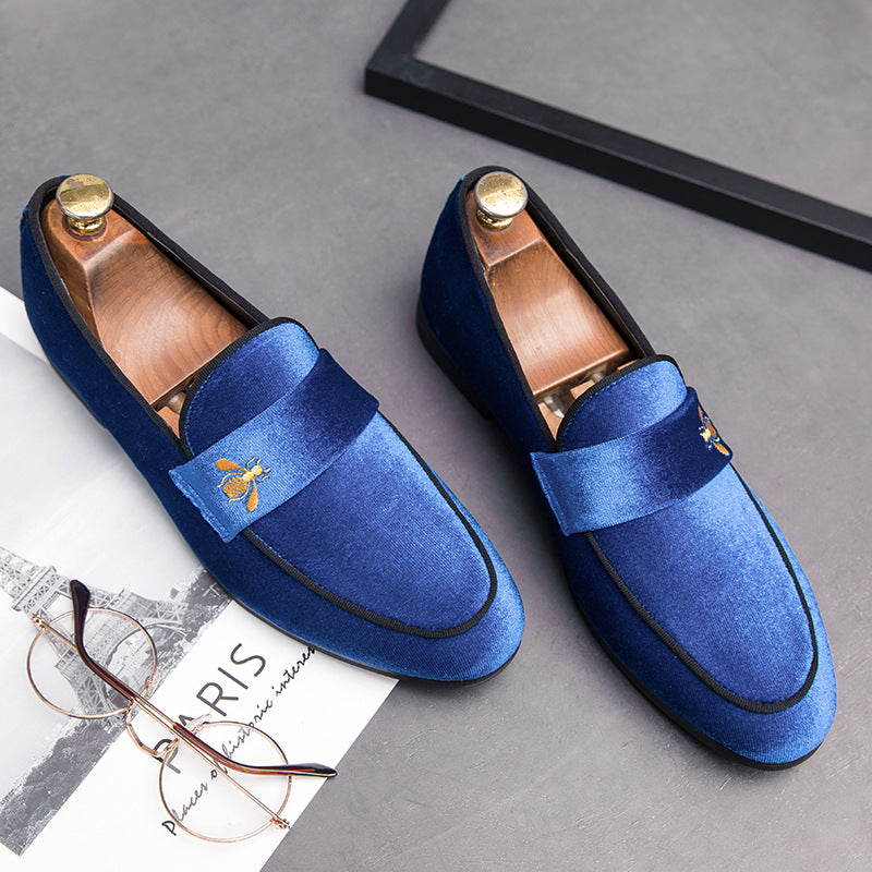 Large British college style small leather shoes trend all kinds of students' casual shoes Korean bean shoes small bee shoes