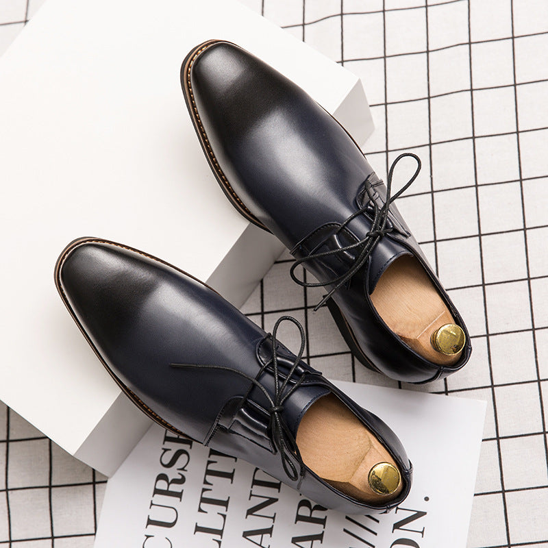 Men's business dress shoes Korean version British trend large men's shoes versatile European version pointed casual shoes fashionable shoes