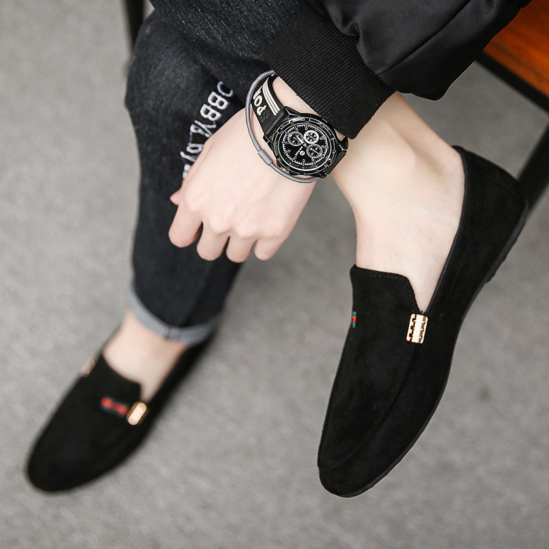 Summer Doudou shoes men's social spirit little lazy shoes Korean Trend 2020 new men's shoes