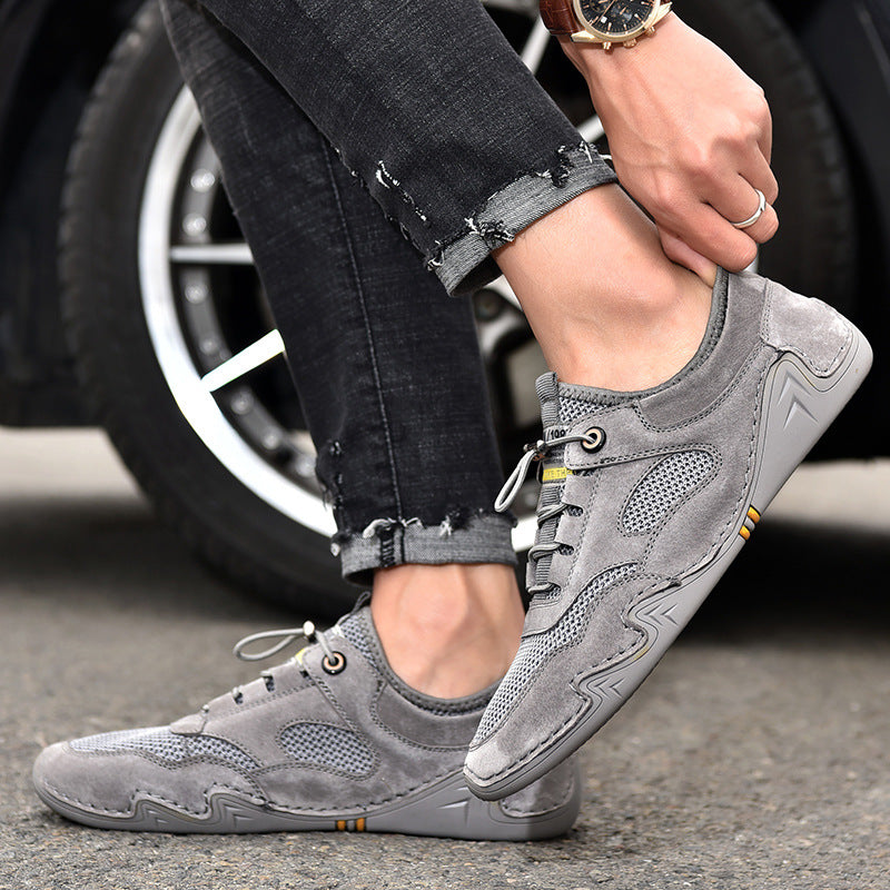 2020 popular style summer air-permeable net eight claw fish bean men's shoes sports leisure soft-soled men's shoes.