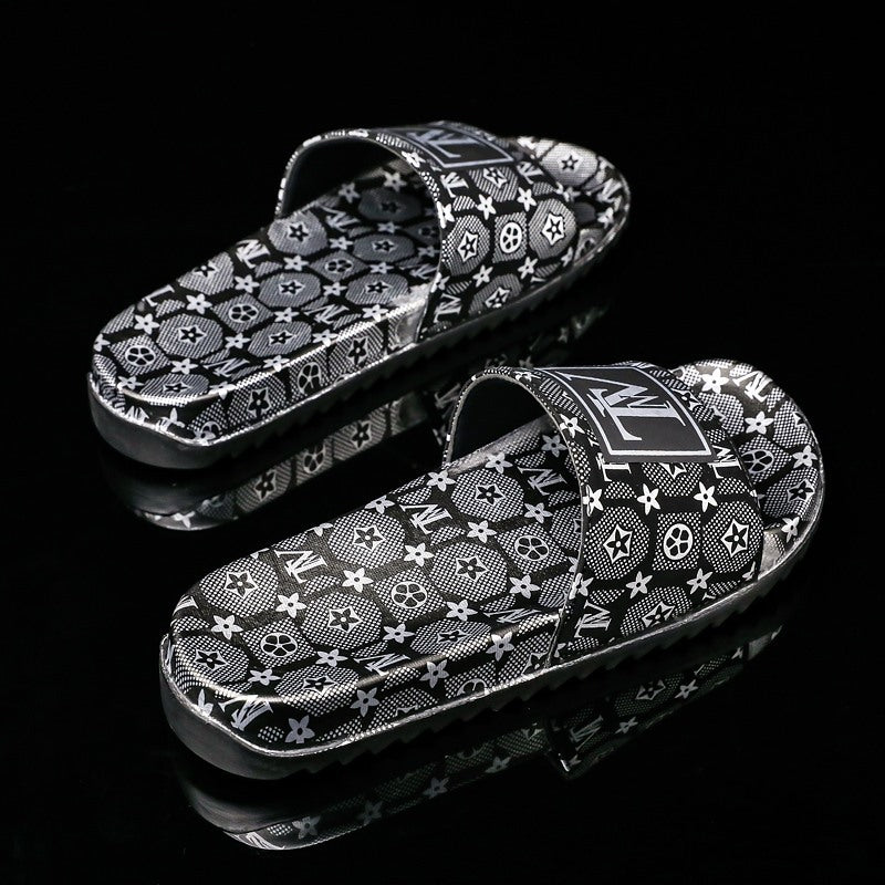 Summer 2020 new leisure anti-skid ultra-light European size limited edition gold men's slippers on behalf of the hair