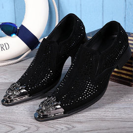men's iron head casual shoes Korean fashion line men's shoes