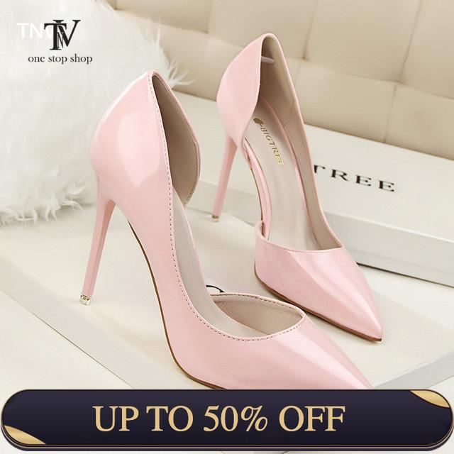 Shallow Pointed Sexy Thin High-heeled Shoes