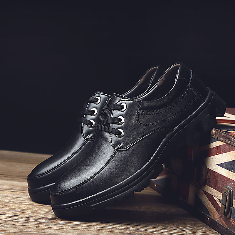 2020 new leisure leather shoes men's British comfortable high top shoes large size cross-border business leather shoes
