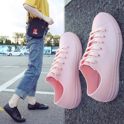 Korean version of the non-slip rain boots female adult Korean fashion tide-2019