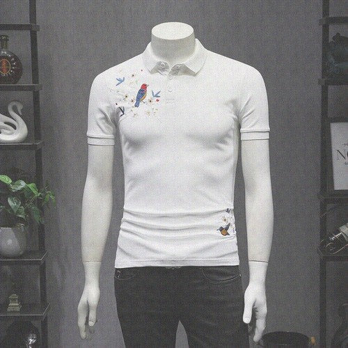 Casual Turn-Down Collar Slim Fit Tee