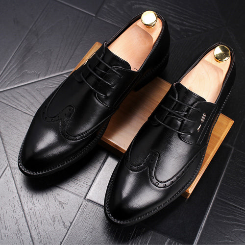 men's dress business pointy shoes