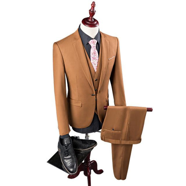 Men's Suits Tuxedo(Jacket+Pant+Vest)