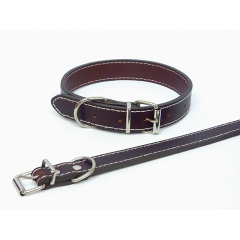 The Paws Brown Leather Collar (Small, Medium,Large, XLarge)