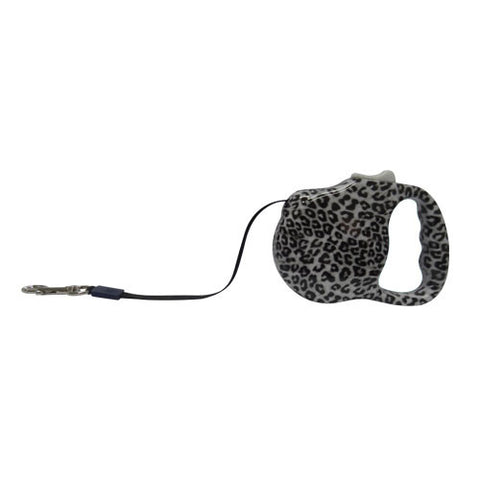 Retractable Lead Medium - Leopard