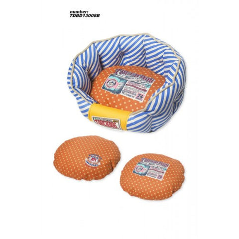 Touchdog Stylish Dog Bed (Blue/Orange)