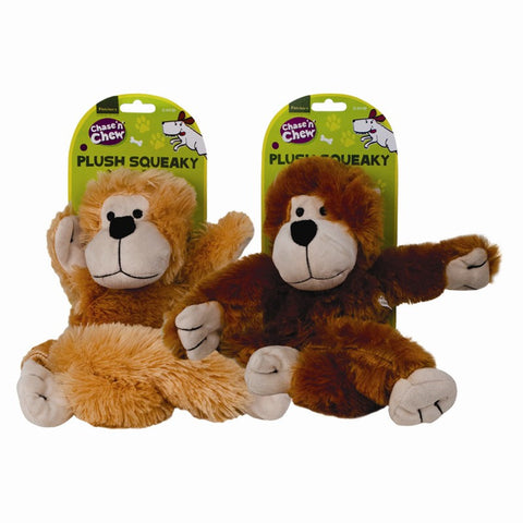 Plush Monkey Dog Toy