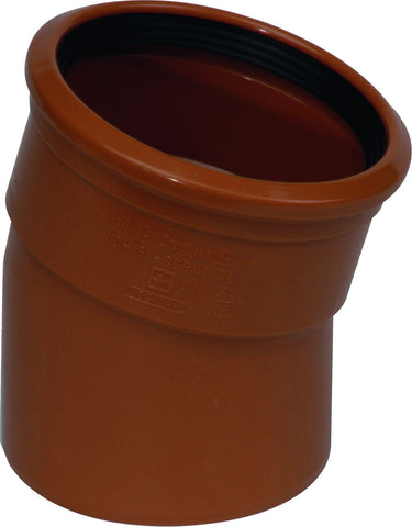 "110mm / 4"" S/S (Single Socket) 15 degree Underground Drainage Pipe Bend"