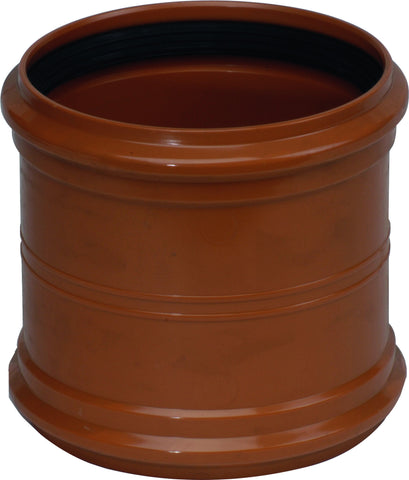 "110mm / 4"" D/S (Double Socket) Underground Drainage Straight Coupler"