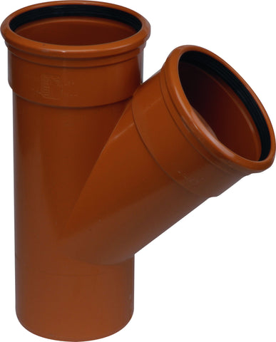 "110mm / 4"" D/S (Double Socket) 45 degree (Y) Underground Drainage Pipe Junction"