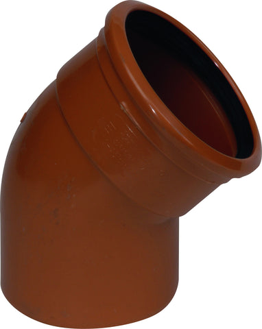 "160mm / 6"" S/S (Single Socket) 45 degree Underground Drainage Pipe Bend"