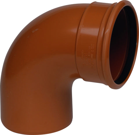 "110mm / 4"" S/S (Single Socket) 90 degree Underground Drainage Pipe Bend"