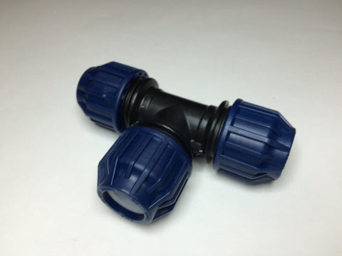 25mm MDPE 90 degree equal Tee / T Junction for Water Pipe