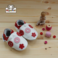 Buttons - Leather Baby Shoes by Hippofeet
