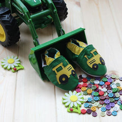 Tractor - Leather Baby Shoes by Hippofeet