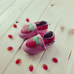Strawberry - Leather Baby Shoes by Hippofeet
