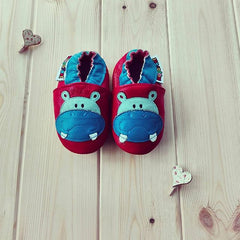 Red Hippo - Leather Baby Shoes by Hippofeet