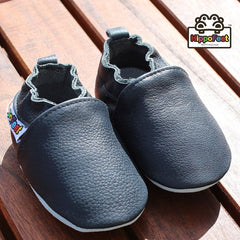 Black - Leather Baby Shoes by Hippofeet