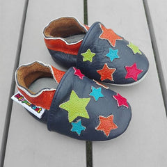 Night Sky Leather Baby Shoes by Hippofeet