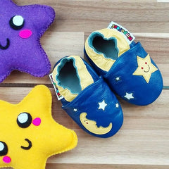 Moon - Leather Baby Shoes by Hippofeet