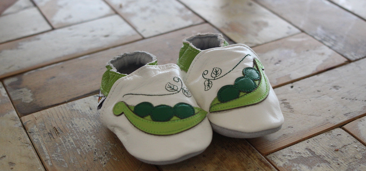 Soft Leather Baby Shoes - Hippofeet Tractor Soft Leather Baby Shoes