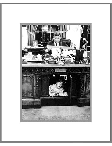 "8""x 10"" John Jr. Under Desk Matted Print"