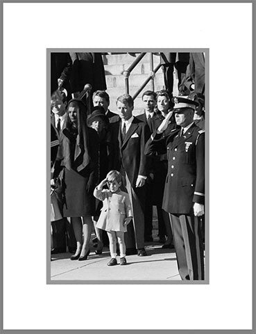 "8""x 10"" John Jr. Saluting Matted Print"