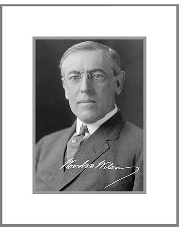 "8""x 10"" Woodrow Wilson Matted Print"