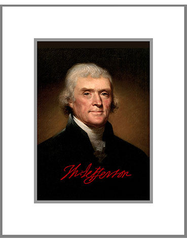 "8""x 10"" Thomas E. Jefferson Matted Print"
