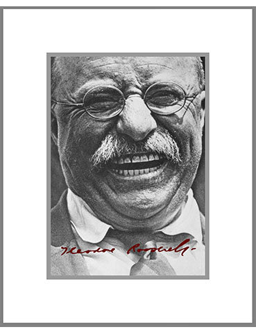 "8""x 10"" Theodore Roosevelt Matted Print"