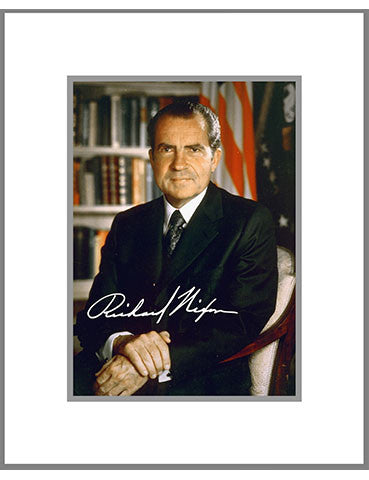 "8""x 10"" Richard M. Nixon Matted Print"