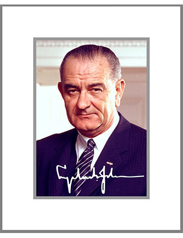 "8""x 10"" Lyndon B. Johnson Matted Print"