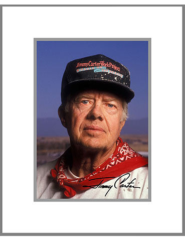 "8""x 10"" Jimmy Carter Matted Print"
