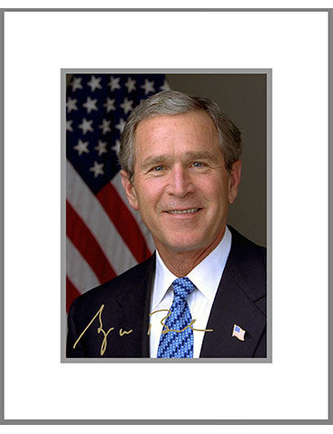 "8""x 10"" George W. Bush Matted Print"