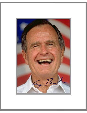 "8""x 10"" George H. W. Bush Matted Print"
