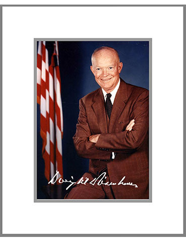 "8""x 10"" Dwight Eisenhower Matted Print"